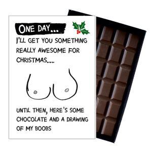 Novelty Chocolate Gifts For Man Men Funny Rude Greeting Christmas Xmas Card Box