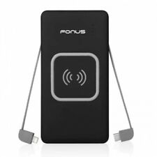 10000mAh Portable Battery Wireless Charger Backup Power Bank for Smartphones