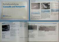 VW T4 Transporter Caravelle Bedienungsanleitung Betriebsanleitung 1991