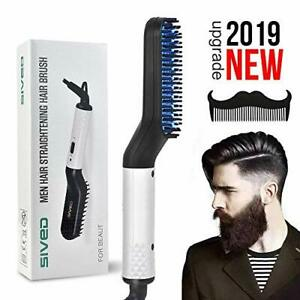 Beard Straightener Comb for men - Electric Quick Hair Straightening Brush