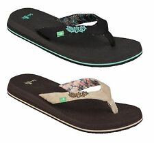 Sanuk Women's Yoga Paradise 2 Flip Flops Thong Sandals Sizes 6 7 8 9 10 11 New