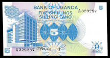 World Paper Money - Uganda 5 Shillings Nd 1979 P10 @ Crisp Unc