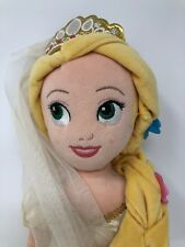"Disney Store Tangled Rapunzel Wedding Dress Plush Soft Doll 20"""