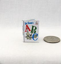 DR. SEUSS'S ABC Miniature Book Color Illustrated Dollhouse 1:12 Scale Readable