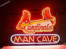 New Rare ST LOUIS CARDINALS BASEBALL MAN CAVE Beer Bar Neon Light Sign FREE SHIP