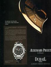 ▬► PUBLICITE ADVERTISING AD Montre Watch AUDEMARD PIGUET Royal Oak offshore