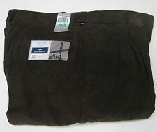 34 X 29 DOCKER PLEATED FRONT CORDS-BROWN- NWT