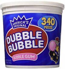 DUBBLE BUBBLE BubbleGum 340 Count Bucket 53.9 oz ORIGINAL Chewing Gum FRESH