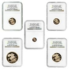2015 2.0599 oz British Proof Gold Sovereign 5-Coin Set NGC PF 70 UCAM