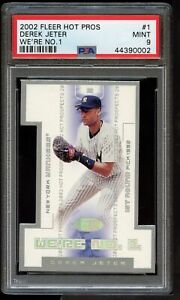 2002 Fleer Hot Prospects We're #1 Die-Cut #1 Derek Jeter POP 3 None Higher PSA 9