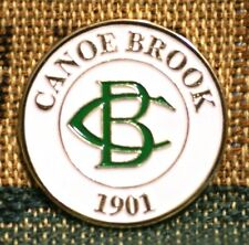"""Rare_ Limited Edition _ CANOE BROOK  1901  1"""" Gold Plated Golf Ball Marker"""
