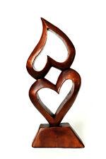 herz,holz,deko,ca.32x13cm,skulptur,figur,herzfigur,holzfigur,liebe,herzskulptur,