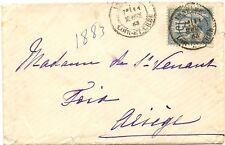 FRANCE cover lettre VENDôME (Loir et Cher )  1883 pour Foix