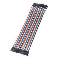 40PCS 2.54mm 10cm Dupont Wire Jumper Cables Female to Female 1P-1P For Arduino