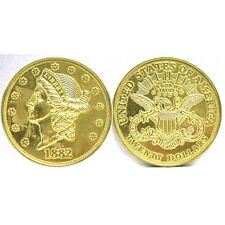 DOUBLE EAGLE GOLD $20.00 DOLLAR JUMBO 3 INCH COIN - PAPERWEIGHT NEW 70928