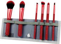 Moda Total Face Professional Make Up Brush Set. White Blue Red Purple Black