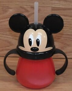 Disney Store Individual Mickey or Minnie Mouse Sippy Cup w/ Straw of Choice!