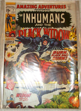 inhumans, black widow , amazing adventures number 6 and 7. 8.5 and 9.0 cond.