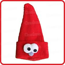 BULGING EYES GOGGLE EYED ELF WIZARD GNOME DWARF GREMLIN POINTY KNIT HAT BEANIE