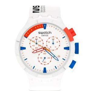 Swatch Mens Chrono Watch Big Bold Bioceramic EXTRAVEHICULAR SB04Z400 NASA