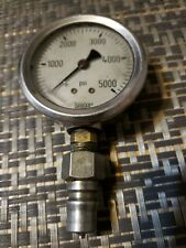Wika Gauge 0-5000 psi Pressure Indicator with Fittings