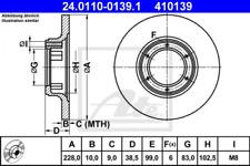 2x Bremsscheibe für Bremsanlage Vorderachse ATE 24.0110-0139.1