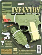 WW II Infantry Set Toy Plastic Replica 45cal 1911 Pistol and Grenade # 4642