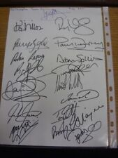 2001 Autographed A4 Page: Northampton Town - Approx 18 Signatures Upon A Plain W