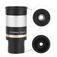 Datyson 1.25inch 8-24mm Zoom Eyepiece Aluminium Alloy for Astronomical Telescope