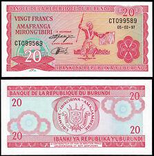 BURUNDI 20 FRANCS (P27d) 1997 UNC