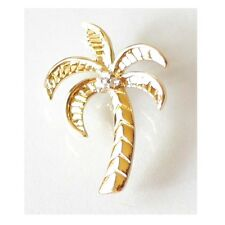 "14K Solid Yellow Gold Diamond Palm Tree Pendant. Wid: 5/8"" Length: 7/8""C2161-12"