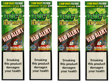 JUICY ORGANIC WRAPS ROLLING PAPERS 4 PACK (8 PCS) STRAWBERRY (RED ALERT)