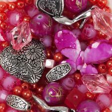 300 perlen rosa und silber Mix Schmuck Machen Bastelpaket Bastelset Basteln