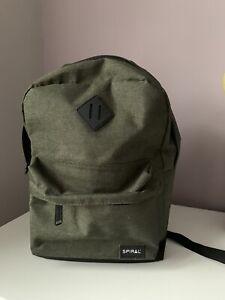 Spiral Khaki Dark Green Backpack