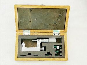 "Mitutoyo 117-108 Multi Anvil Micrometer 1-2"" Uni-Mike .0001"" Friction Thimble"