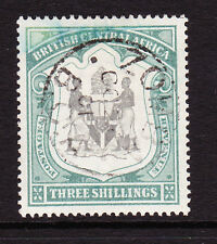 BRITISH CENTRAL AFRICA 1897-1900 3/- BLACK & SEA-GREEN SG 49 FINE USED.
