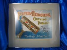 Vintage Piper Heidsieck Chewing Tobacco Champagne Flavor Poster w/ Frame 17.5x20