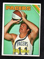 1975-76 Topps #248 Billy Keller Indiana Pacers Basketball Card EX+