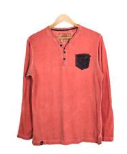 MUFTI Rust / Orange  Long Sleeved Henley Shirt   Size: L
