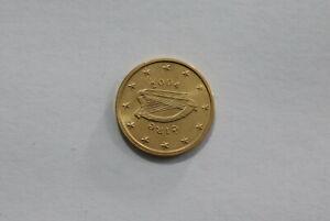 IRELAND 1 EURO CENT 2004 GOLD PLATED B24 #K2963