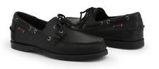 Sebago Docksides Portland Total Black Boat Shoe Men's US sizes 7-15 Medium/NEW!!