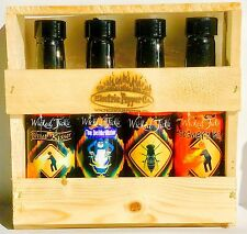 Hot Sauce Gift Set Ghost Pepper Hot Sauce +6 Free Ghost Peppers Wicked Tickle