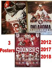 3 POSTERS! 2012, 2017, 2018 OKLAHOMA SOONERS SCHEDULE FOOTBALL POSTERS MAYFIELD