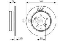 2x BOSCH Discos de Freno Traseros Ventilado 307mm 0 986 479 665