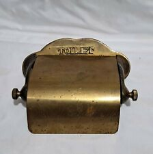 Vintage PULLMAN(?) Railroad Solid Heavy Brass Mounted Toilet Paper Holder
