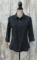 THE NORTH FACE Women's Size LARGE 3/4 Sleeve Top Shirt DARK MIDNIGHT BLUE