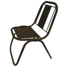 sedia marrone da giardino esterno in metallo ferro vintage industriale rustica