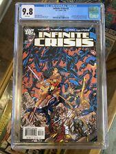 INFINITE CRISIS #3 CGC 9.8 W/P  NEW BLUE BEETLE GEORGE PEREZ COVER DC COMICS