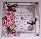 Handmade Greeting Card 3D Birthday With Flowers And Sentiment