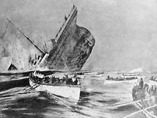 Titanic disastro sink liner nave imbarcazione Atlantico art print poster bb8458